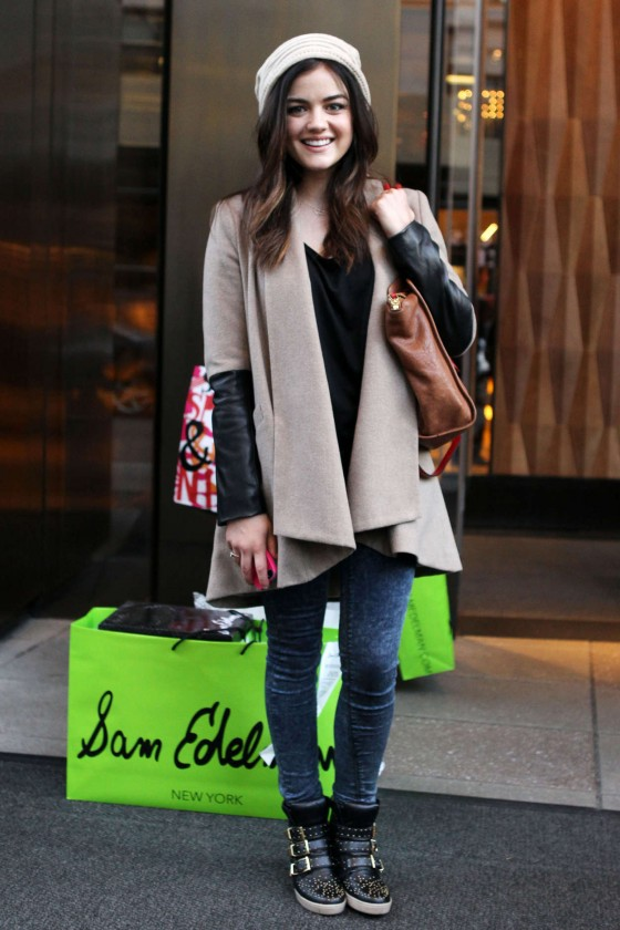 Lucy Hale - Shopping Candids at Sam Edelman in SoHo