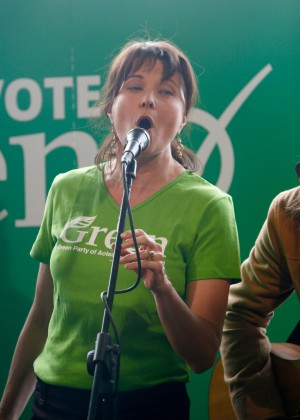 Lucy Lawless - Green Party Election Campaign Event in Auckland