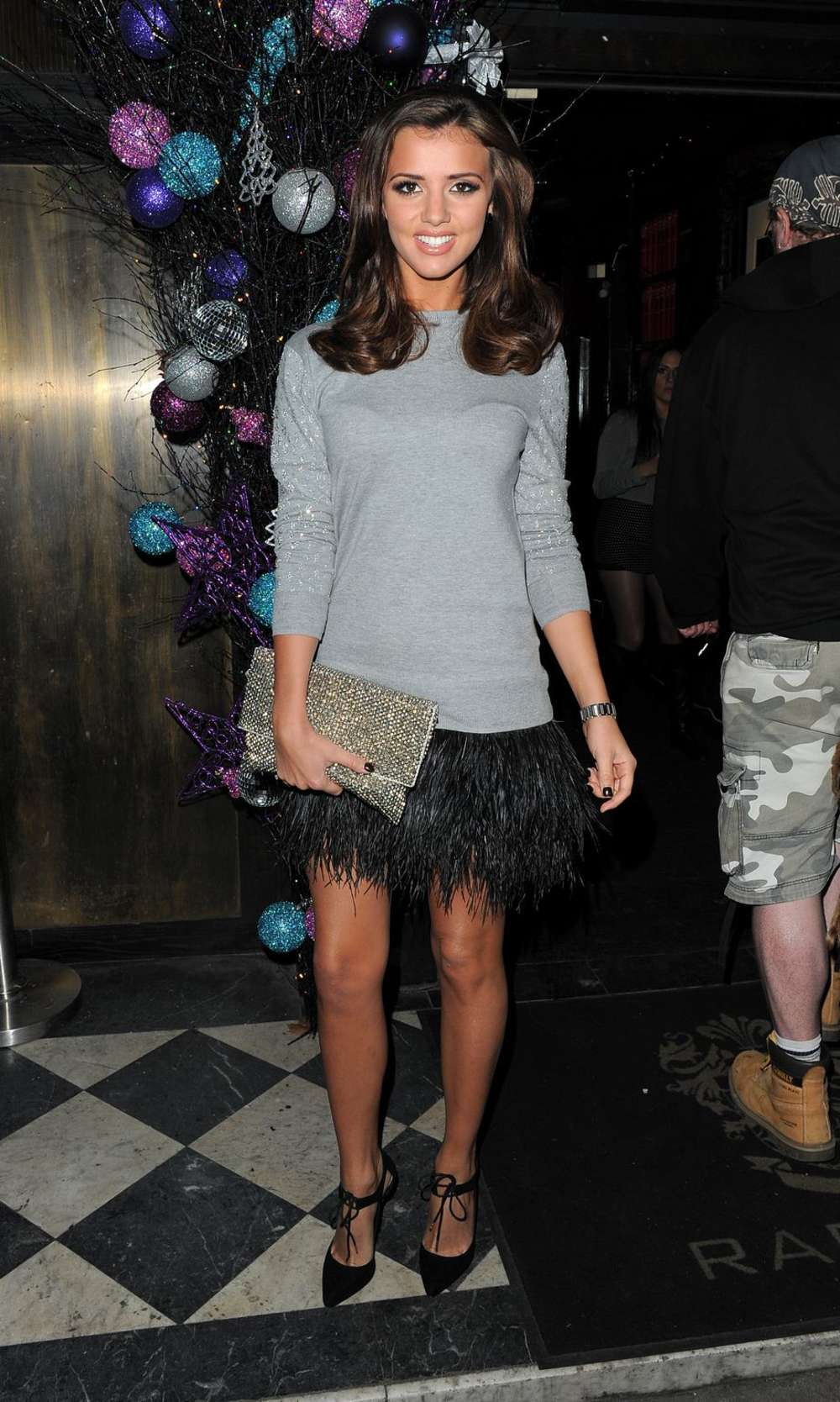 Lucy Mecklenburgh at Raffles Nightclub for the KAZAM Tornado 348 in London