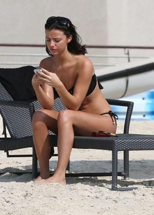 Lucy MecKlenburgh Bikini Photos: 2014 Candids in Dubai -30