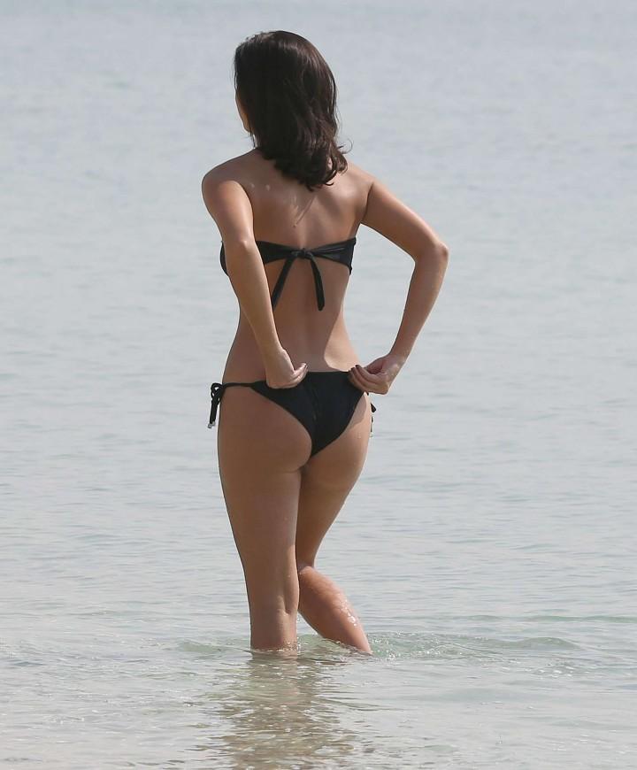 Lucy MecKlenburgh Bikini Photos: 2014 Candids in Dubai -31