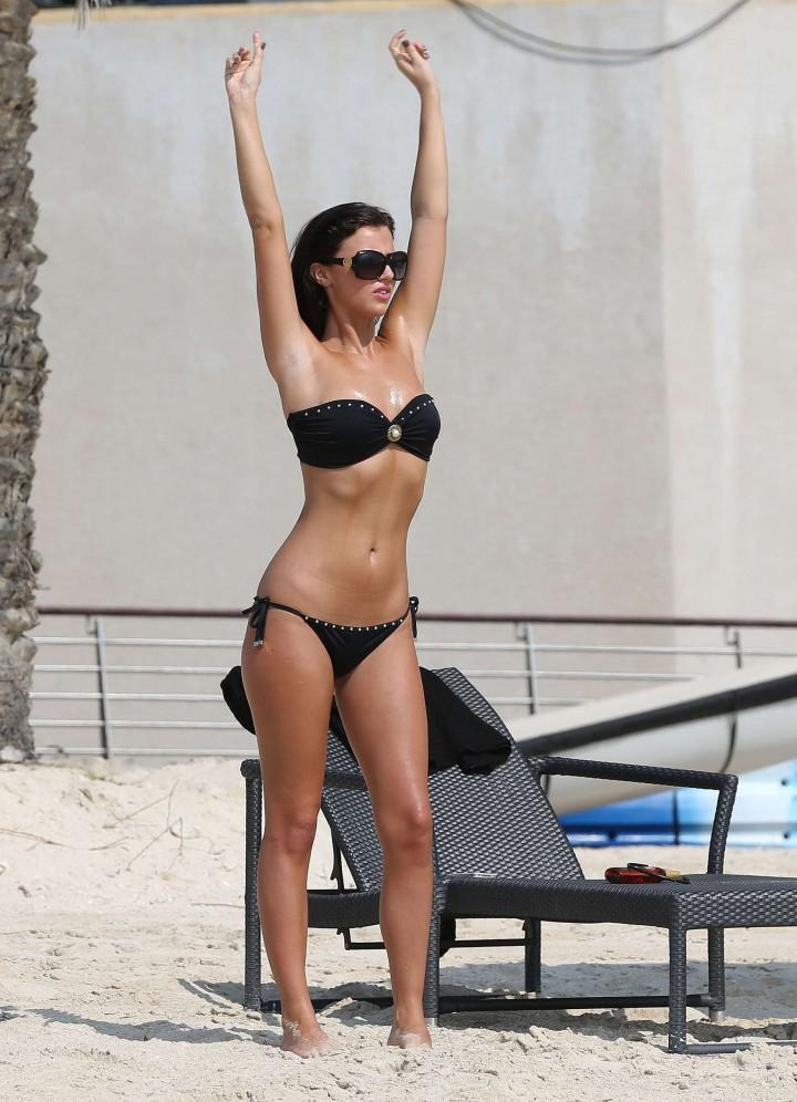 Lucy MecKlenburgh Bikini Photos: 2014 Candids in Dubai -49