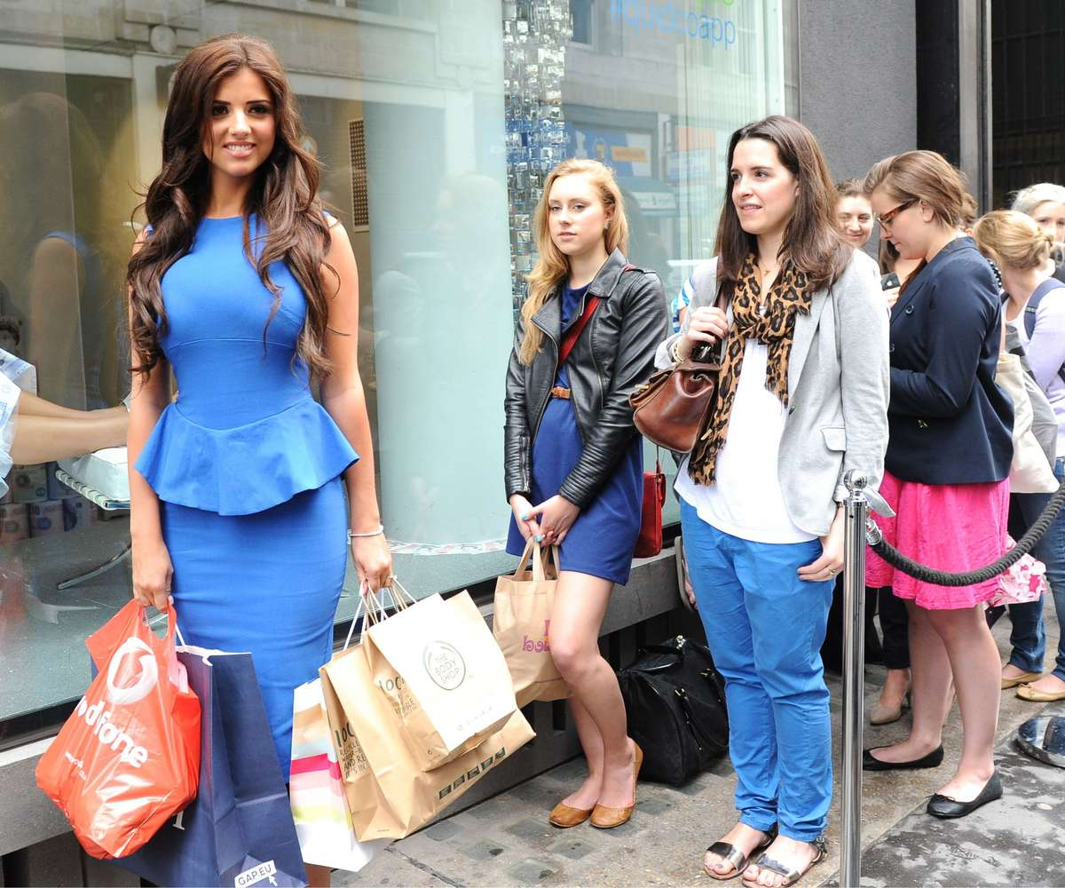 Lucy Mecklenburgh – in a Blue Dress – Launching Quidco Cashback Boutique Store-01