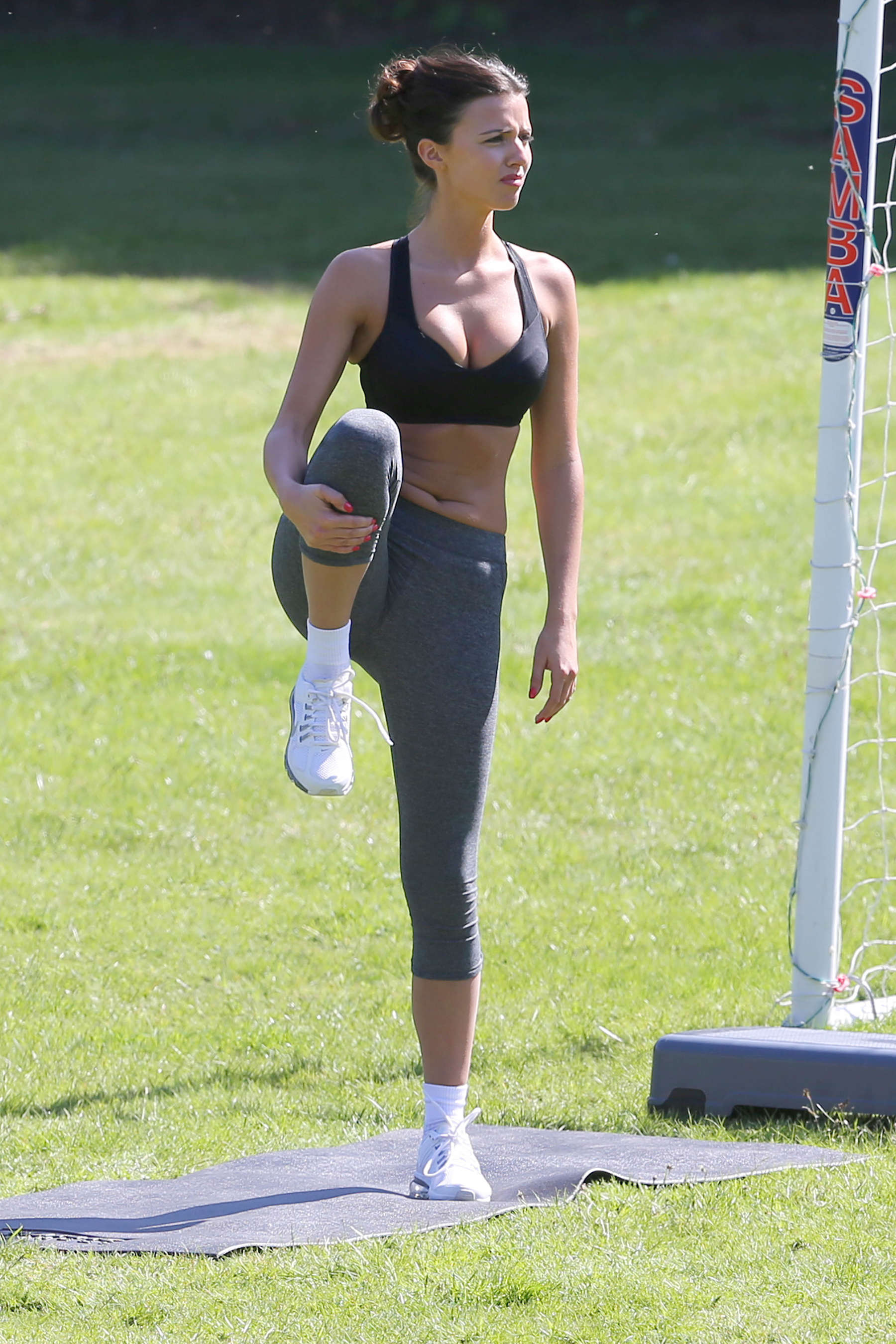 Lucy Mecklenburgh - Doing a workout in a London park -07 ...