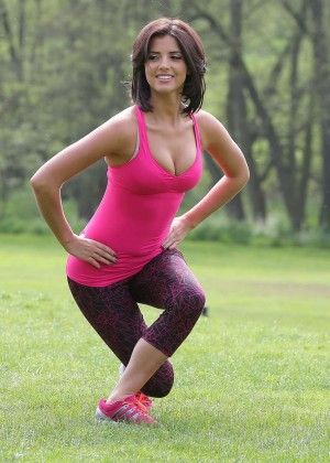 Lucy Mecklenburgh in Leggings Workout -12
