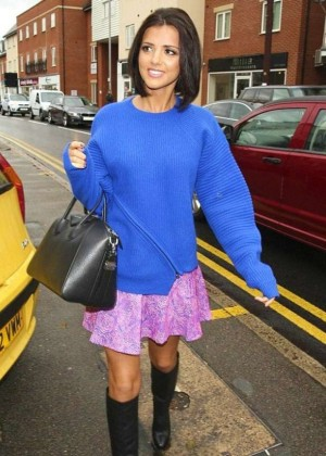 Lucy Mecklenburgh in Pink Skirt at Her Boutique In Brentwood