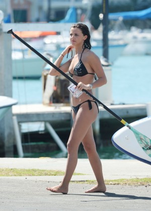 Lucy Mecklenburgh Bikini Pics: Paddleboarding In Miami -01