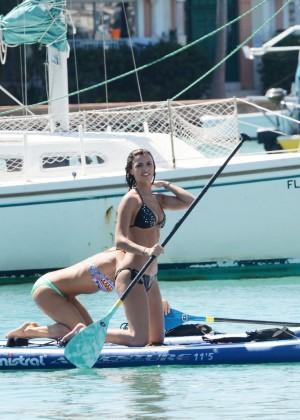 Lucy Mecklenburgh Bikini Pics: Paddleboarding In Miami -03