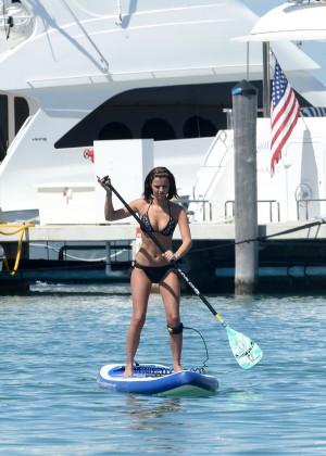 Lucy Mecklenburgh Bikini Pics: Paddleboarding In Miami -15