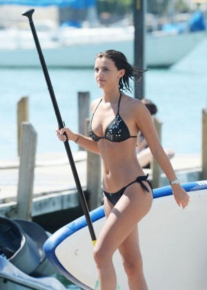 Lucy Mecklenburgh Bikini Pics: Paddleboarding In Miami -17
