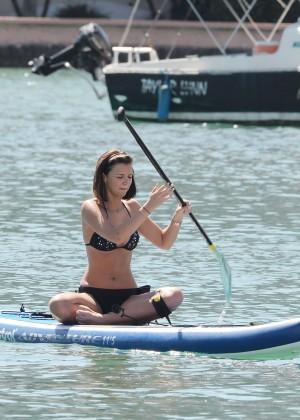Lucy Mecklenburgh Bikini Pics: Paddleboarding In Miami -19