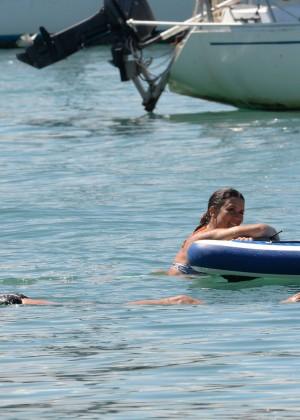 Lucy Mecklenburgh Bikini Pics: Paddleboarding In Miami -21