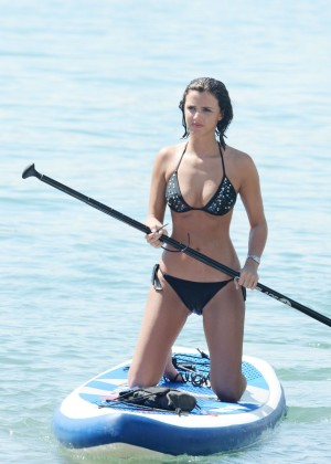Lucy Mecklenburgh Bikini Pics: Paddleboarding In Miami -22