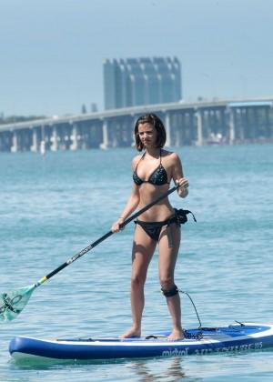 Lucy Mecklenburgh Bikini Pics: Paddleboarding In Miami -24