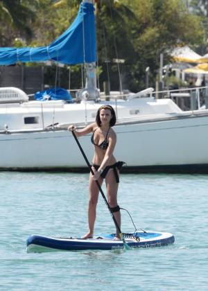 Lucy Mecklenburgh Bikini Pics: Paddleboarding In Miami -25