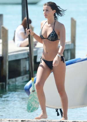 Lucy Mecklenburgh Bikini Pics: Paddleboarding In Miami -26