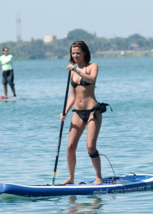 Lucy Mecklenburgh Bikini Pics: Paddleboarding In Miami -33