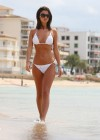 Lucy Mecklenburgh White bikini candids in Mallorca - Spain -01