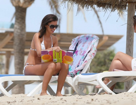 Lucy Mecklenburgh 2013 : Lucy Mecklenburgh White bikini candids in Mallorca – Spain -05