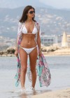 Lucy Mecklenburgh White bikini candids in Mallorca - Spain -08