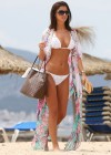 Lucy Mecklenburgh White bikini candids in Mallorca - Spain -27