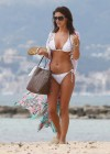 Lucy Mecklenburgh White bikini candids in Mallorca - Spain -30