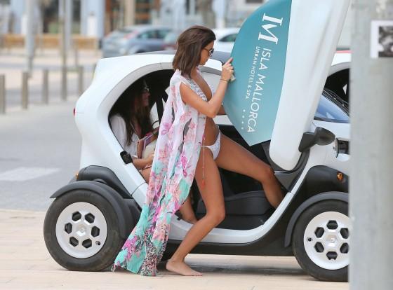 Lucy Mecklenburgh 2013 : Lucy Mecklenburgh White bikini candids in Mallorca – Spain -31