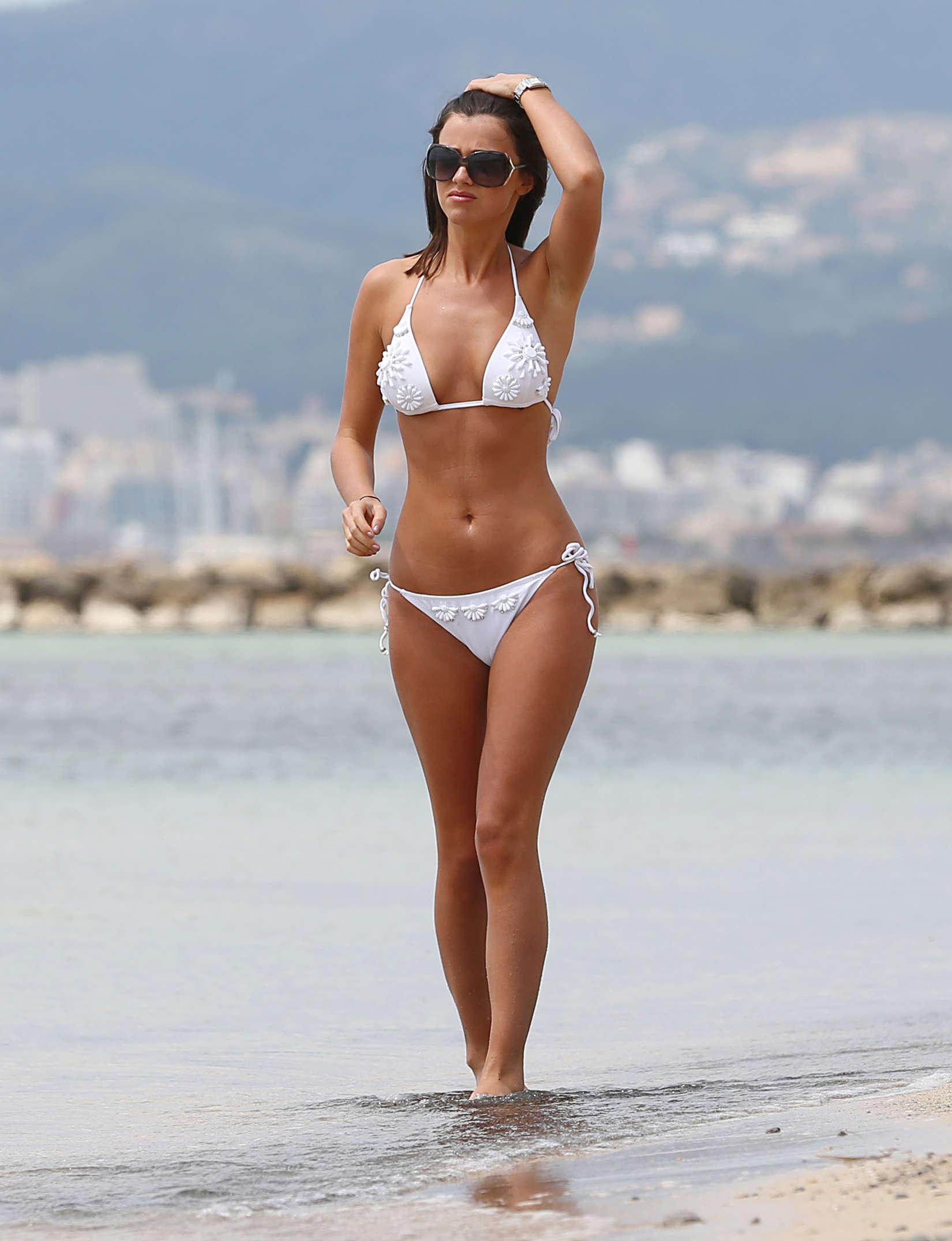 Lucy Mecklenburgh 2013 : Lucy Mecklenburgh White bikini candids in Mallorca – Spain -35