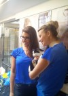 Lucy Pinder - Visits Cats protection in North London