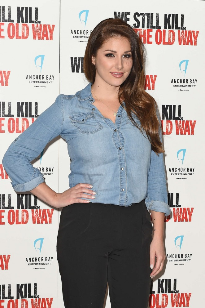 """Lucy Pinder - """"We Still Kill The Old Way"""" Screening in London"""