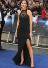 Lucy Watson hot in black dress at Man of Steel UK Premiere -01