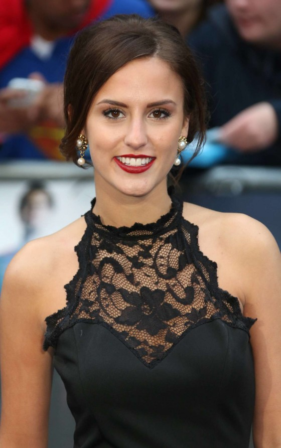 Lucy Watson hot in black dress