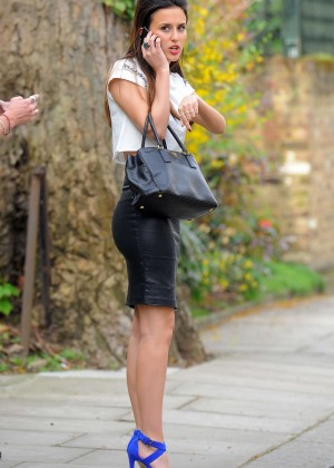 Lucy Watson in Leather Skirt -18