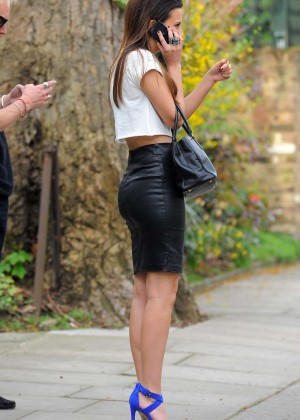 Lucy Watson in Leather Skirt -20 - GotCeleb