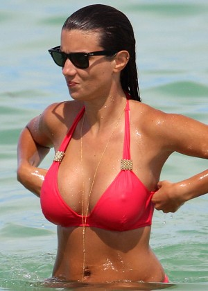 Ludivine Kadri Sagna in a Red Bikini -01