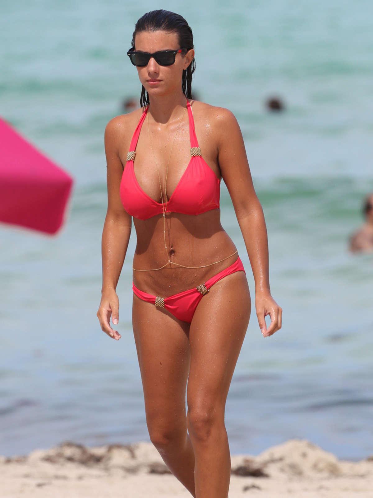 ludivine kadri sagna in a red bikini  08   gotceleb