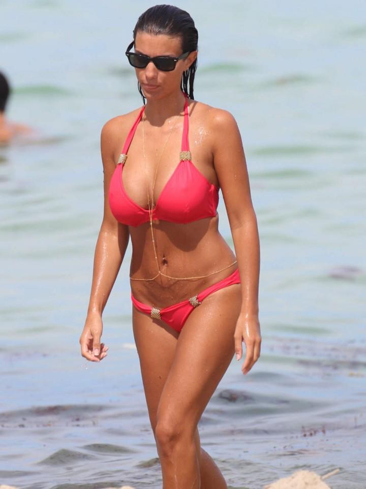 ludivine kadri sagna in a red bikini  10   gotceleb