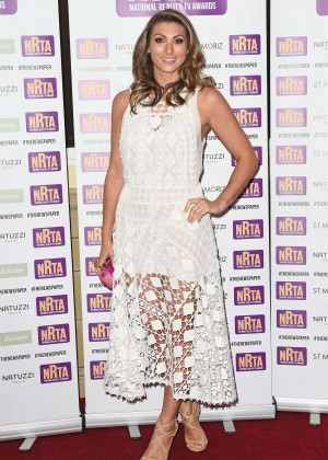 Luisa Zissman in White Dress at 2014 National Reality TV Awards in London