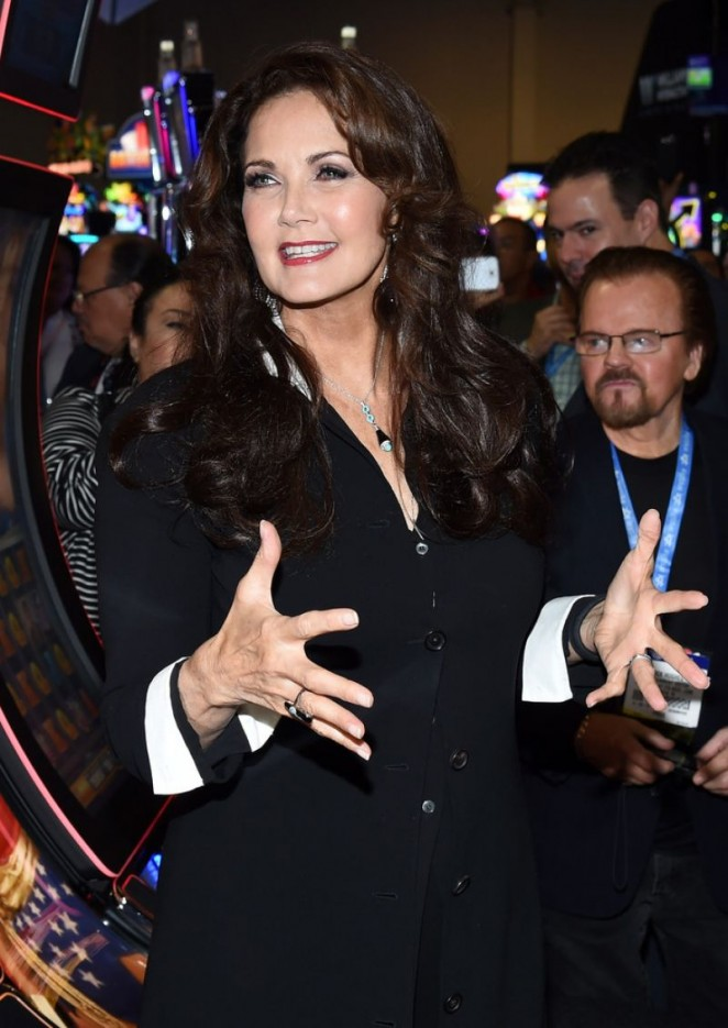 Lynda Carter - Global Gaming Expo (G2E) 2014 in Las Vegas