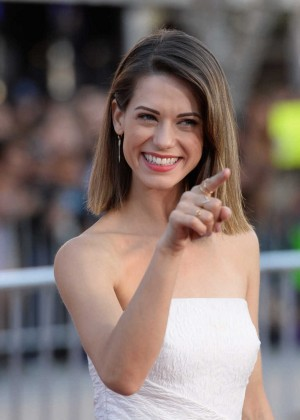 Lyndsy Fonseca - Neighbors premiere in Westwood -05
