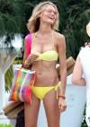 Magdalena Frackowiak Bikini Candids in St Barts -06