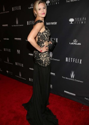 Maggie Grace: 2014 The Weinstein Company and Netflix GG after party -03