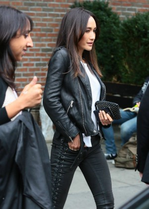 Maggie Q in Tight Pants Leaving the Bowery Hotel in NYC