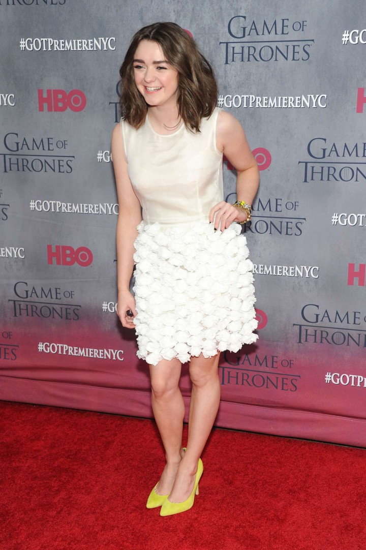 Maisie Williams: Game of Thrones NY Premiere -01