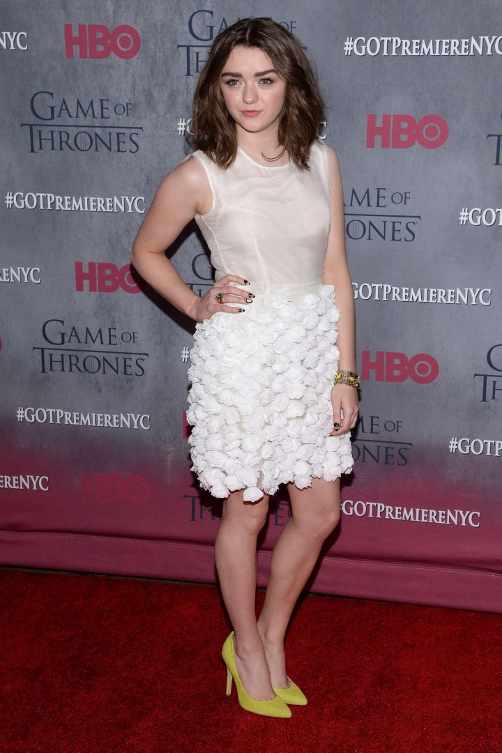 Maisie Williams: Game of Thrones NY Premiere -04