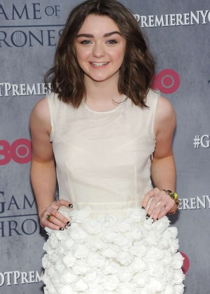 Maisie Williams: Game of Thrones NY Premiere -05