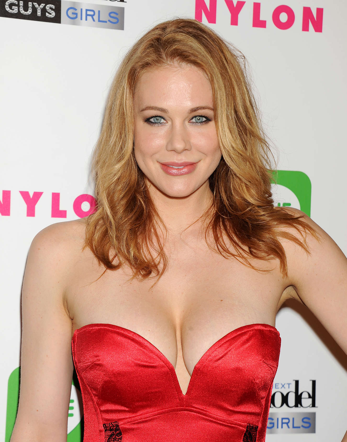 Maitland Ward in Red Dress at America's Next Top Model Cycle 21 Premiere Party in LA