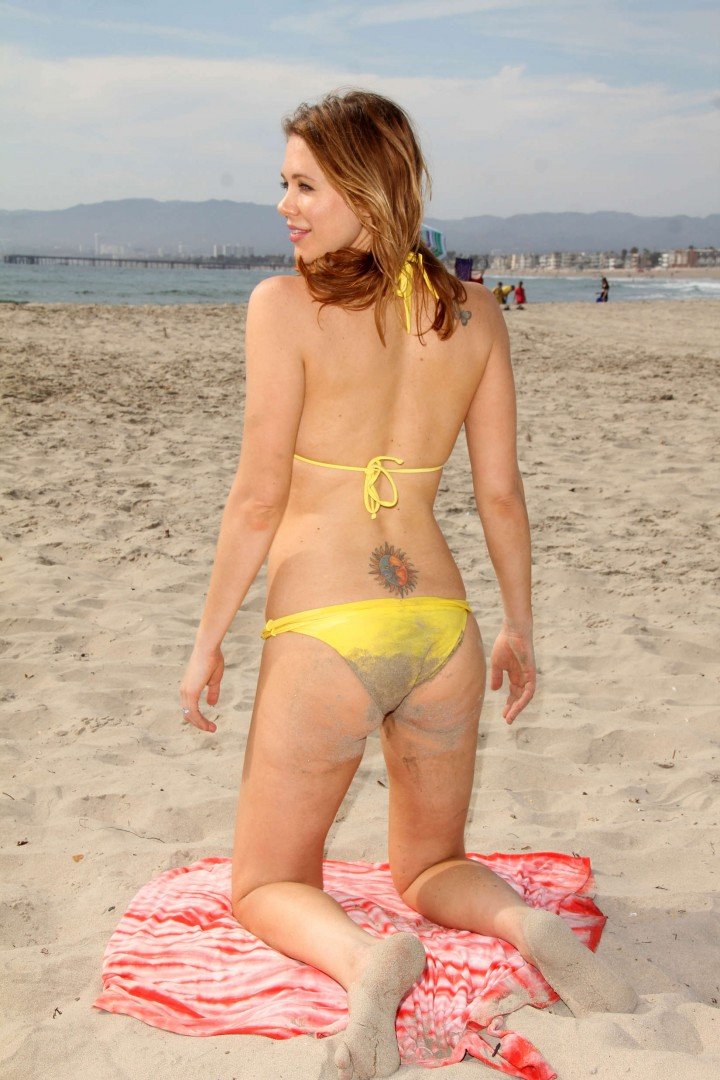Maitland Ward – Bikini photoshoot at a beach in Marina Del Rey