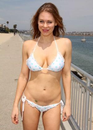 Maitland Ward in White Bikini -19