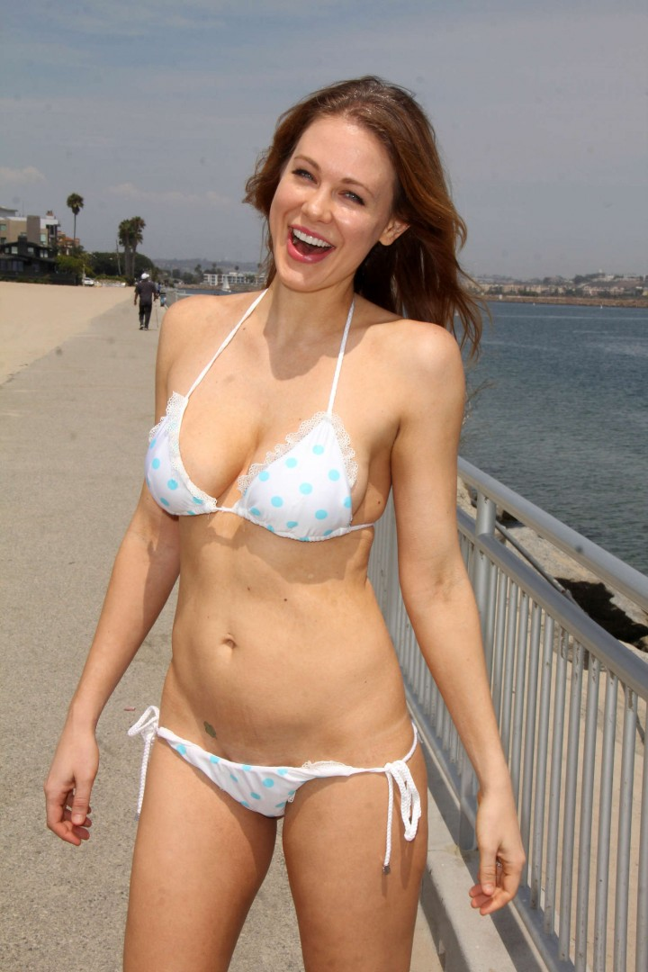 Maitland Ward - Bikini Photoshoot 2014 on Marina Del Rey Beach